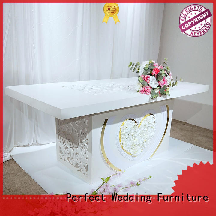 wedding table dressing glass for hotel Perfect Wedding Furniture