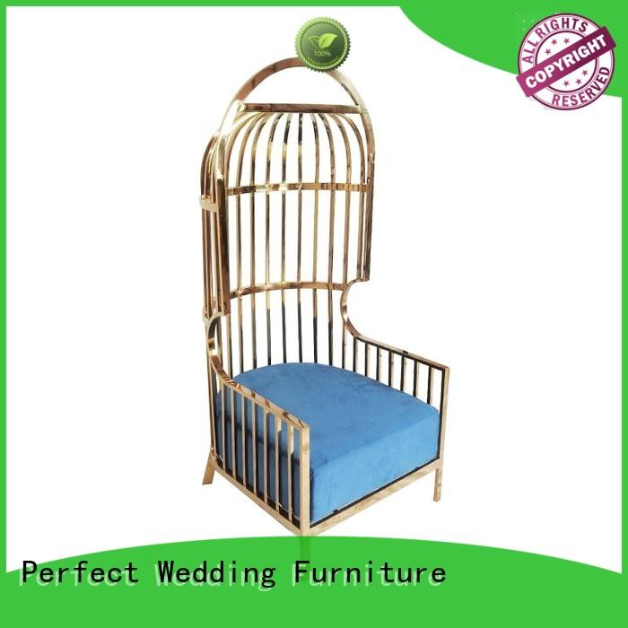 Perfect Wedding Furniture design king throne chair Suppliers for hotel