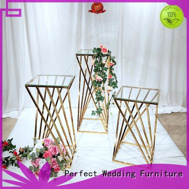 durable floral stand gold series for home