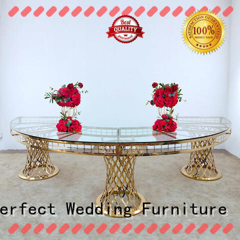 Perfect Wedding Furniture stainless wedding party table supplier for wedding ceremony
