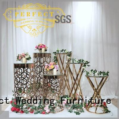 steel flower stand design color pedestal Perfect Wedding Furniture company