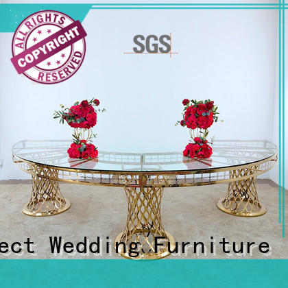 high quality gold wedding table in various sizes for hotel