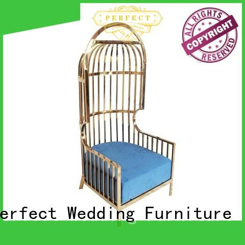 Perfect Wedding Furniture design king and queen chairs Supply for hotel