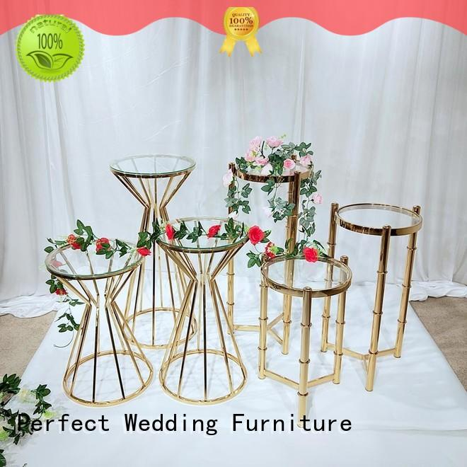 tall floral stand stainless for home Perfect Wedding Furniture