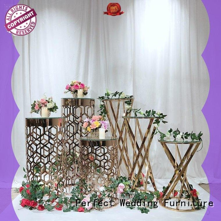 Perfect Wedding Furniture gold flower stand manufacturers for home