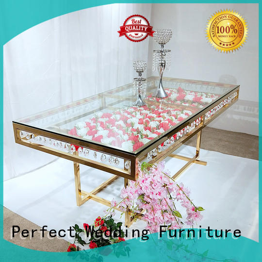 High-quality tables at weddings pvc factory for hotel