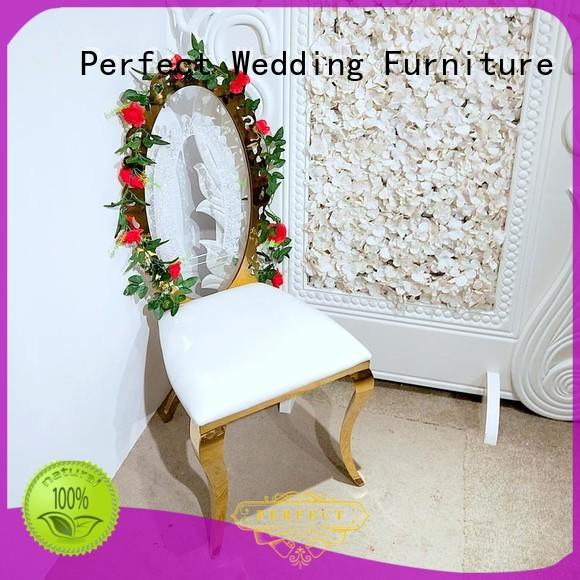 stainless steel wedding chair steel series for wedding ceremony