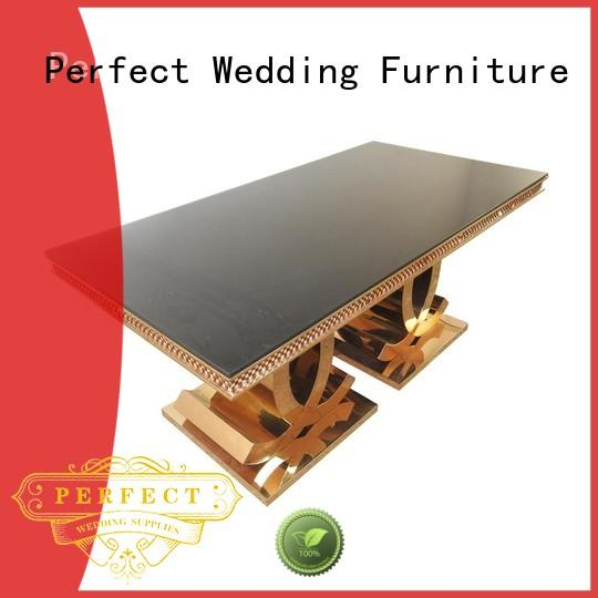 Latest wedding party table marble for business for dining room