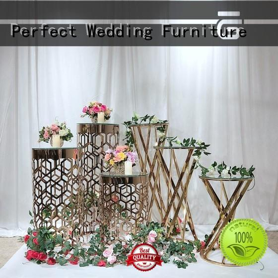 glass wedding flower stand with contemporary manufacturing equipment for hotel Perfect Wedding Furniture
