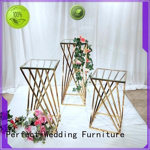 Wholesale floral stand stainless factory for wedding ceremony