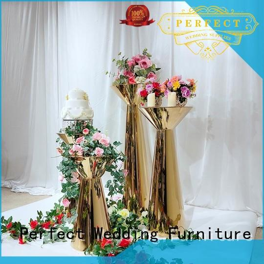 Wholesale gold flower stand steel manufacturers for hotel