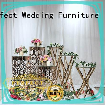 High-quality wedding flower stand glass Supply for wedding ceremony