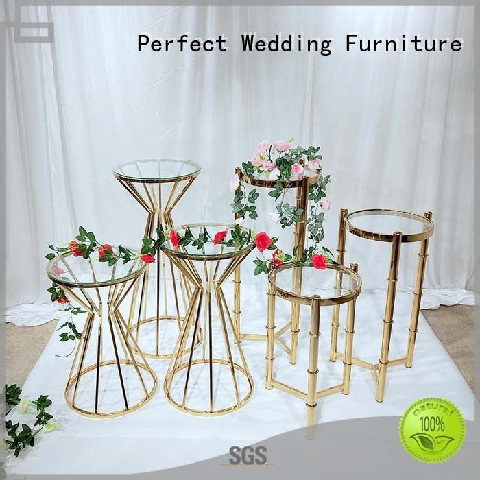 steel pedestal flower stand for sale stainless color Perfect Wedding Furniture Brand
