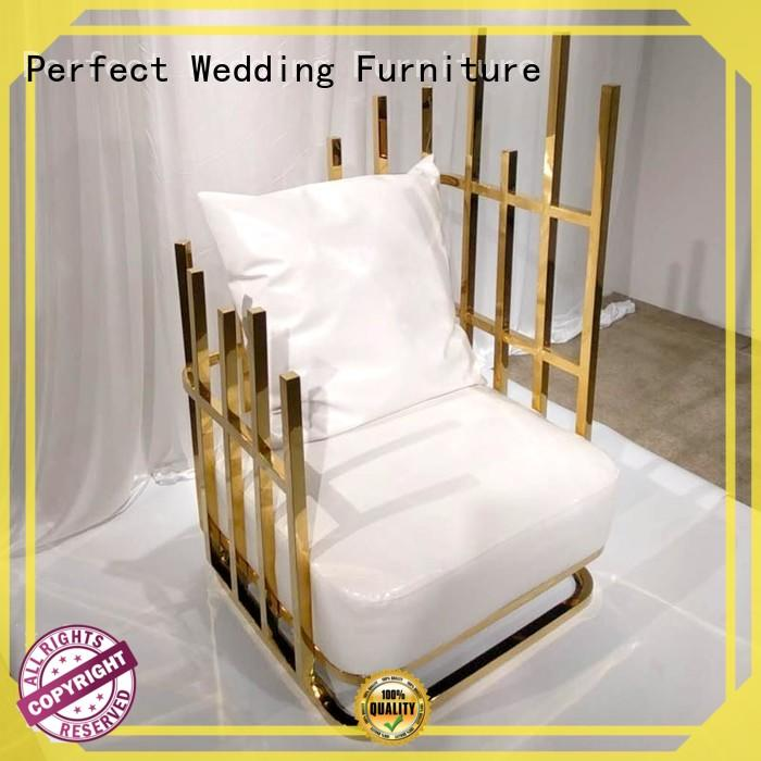 Perfect Wedding Furniture High-quality king and queen chairs for weddings manufacturers for hotel