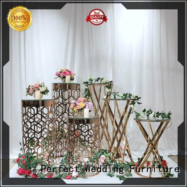 Perfect Wedding Furniture stainless metal flower stand factory for home