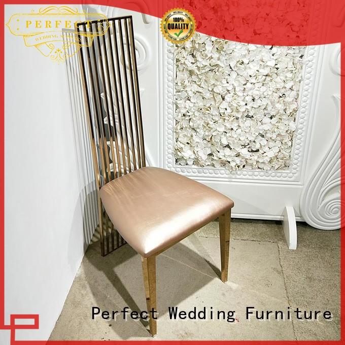 Perfect Wedding Furniture Brand steel back laser stainless fancy wedding chairs