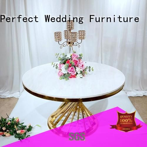 Perfect Wedding Furniture Brand rectangle steel black gold table for wedding dinner