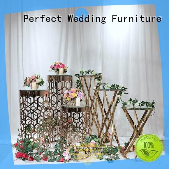 Top gold flower stand glass Supply for home