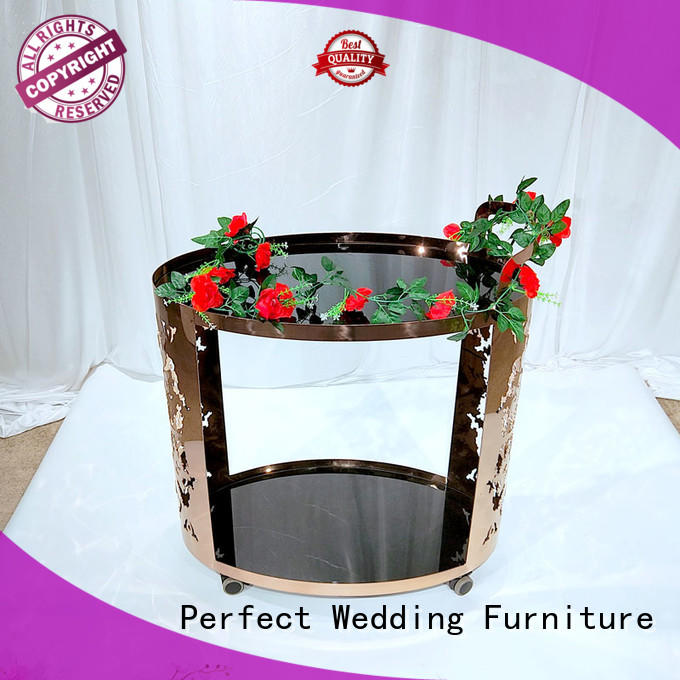 Perfect Wedding Furniture trolley rolling bar cart wholesale for hotel