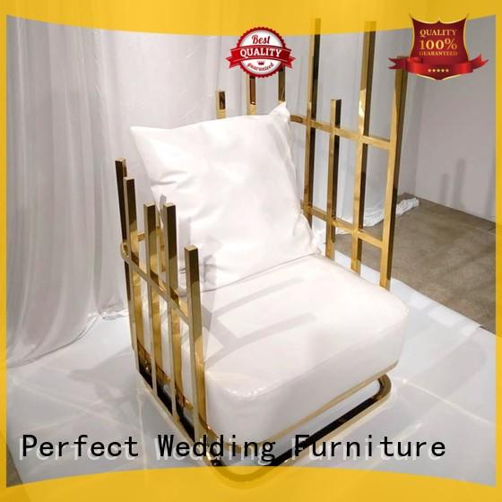 Perfect Wedding Furniture high quality king and queen chairs for weddings wholesale for hotel