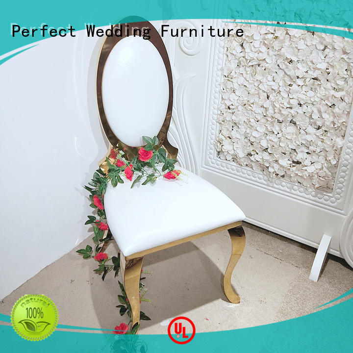 Quality Perfect Wedding Furniture Brand bridal chairs for sale laser leather