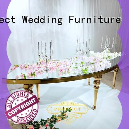 Latest outdoor wedding reception decorations steel Suppliers for hotel