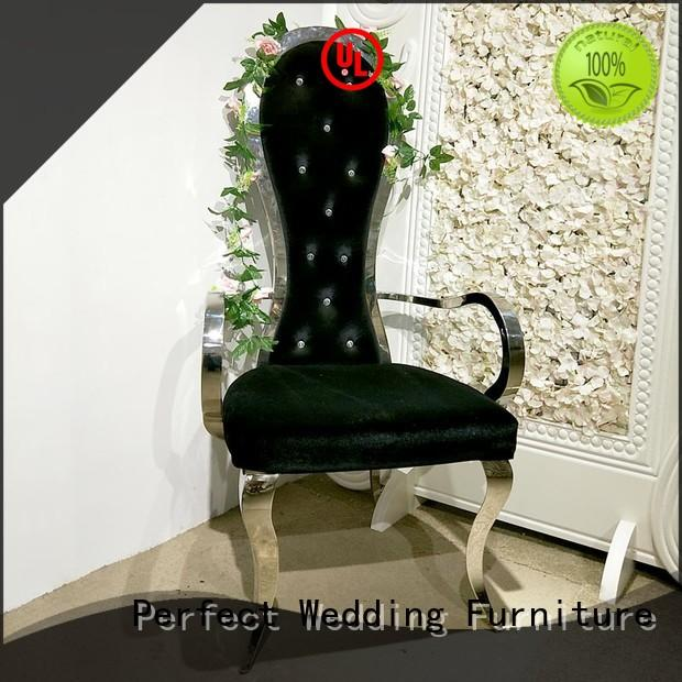 Perfect Wedding Furniture gold queen throne chair supplier for wedding ceremony