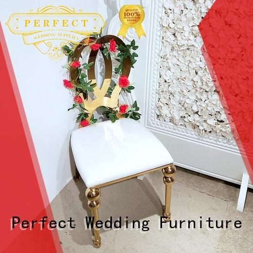 gold silver wedding chairs to meet your needs for hotel Perfect Wedding Furniture