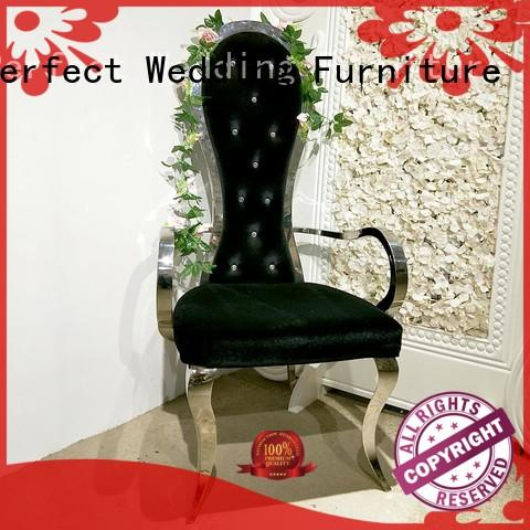 Perfect Wedding Furniture leisurely king and queen chairs Suppliers for hotel