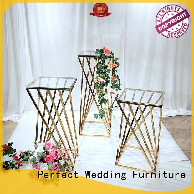 Best gold flower stand stand manufacturers for hotel