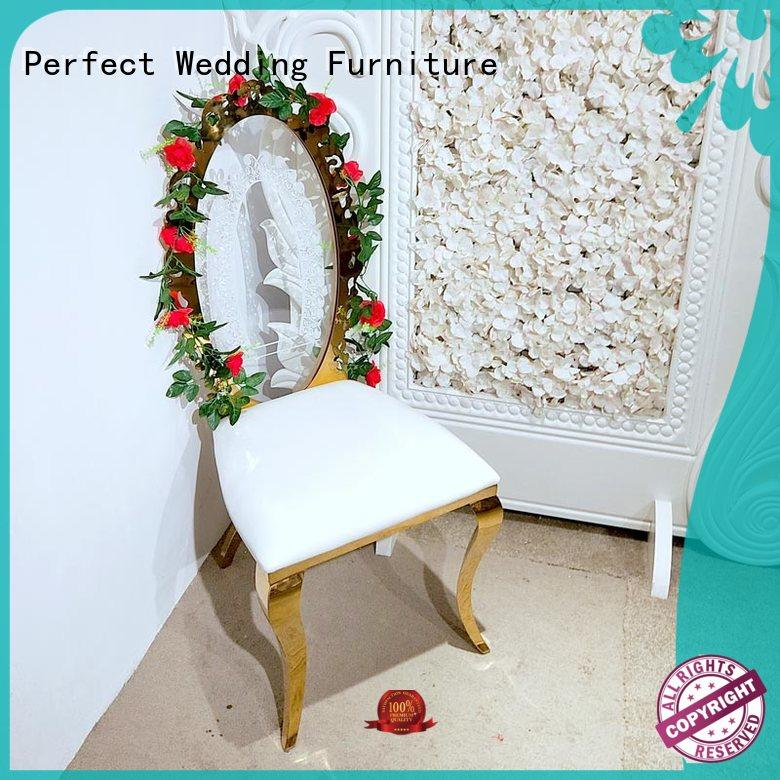 Perfect Wedding Furniture steel party tables and chairs wholesale for wedding ceremony