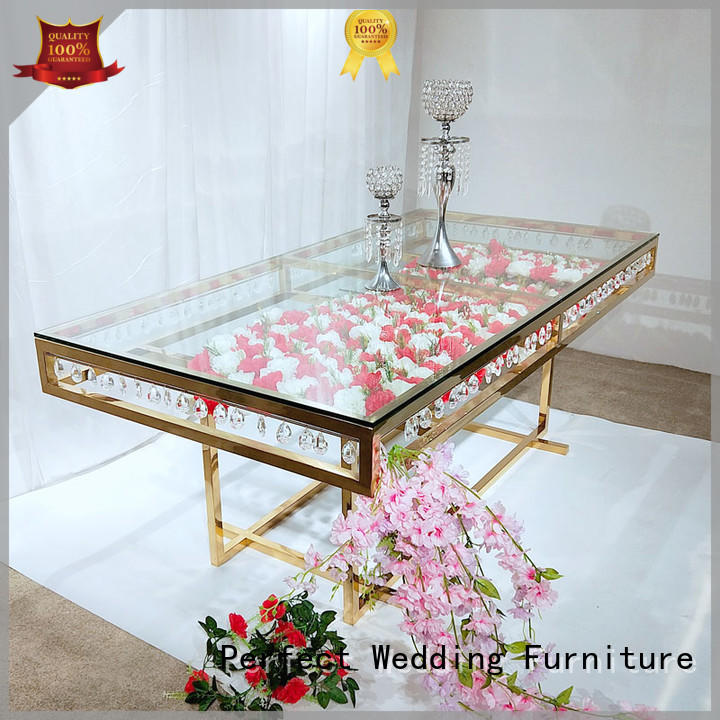 Perfect Wedding Furniture durable gold wedding table stainless for wedding ceremony