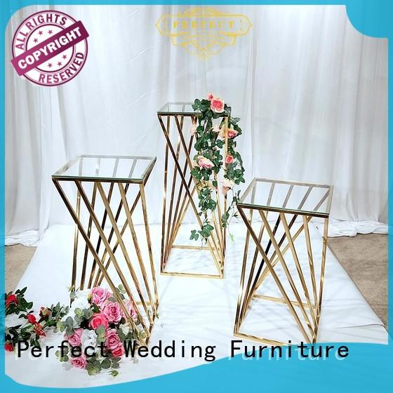decorative floral stand gold series for hotel