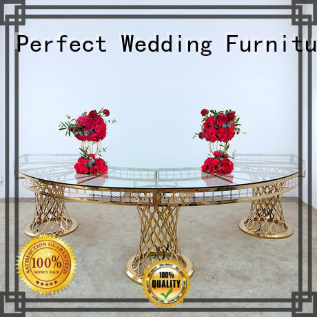 Perfect Wedding Furniture durable wedding party dining table in various shapes for hotel