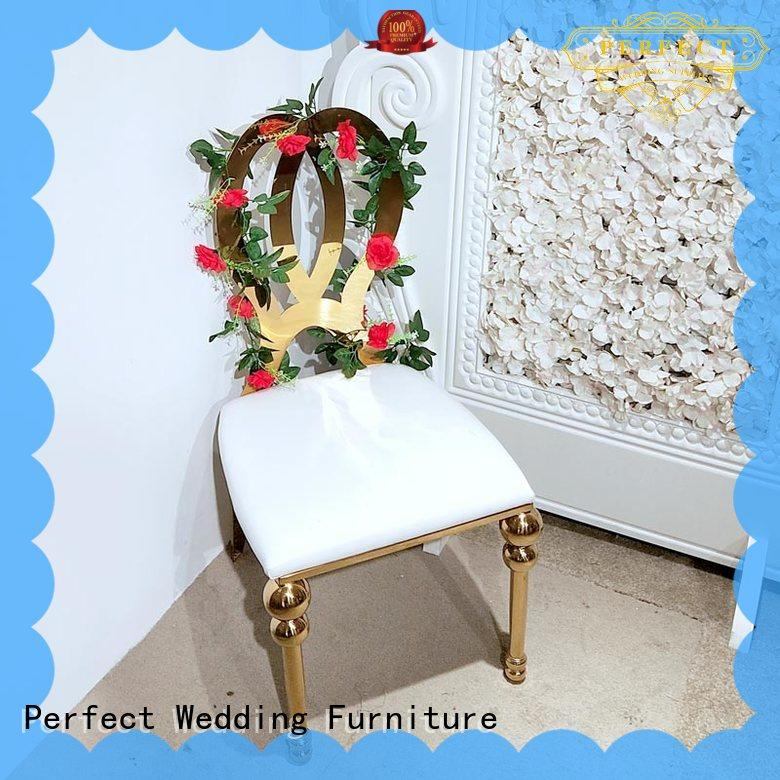 Perfect Wedding Furniture steel wedding chairs for bride and groom series for hotel