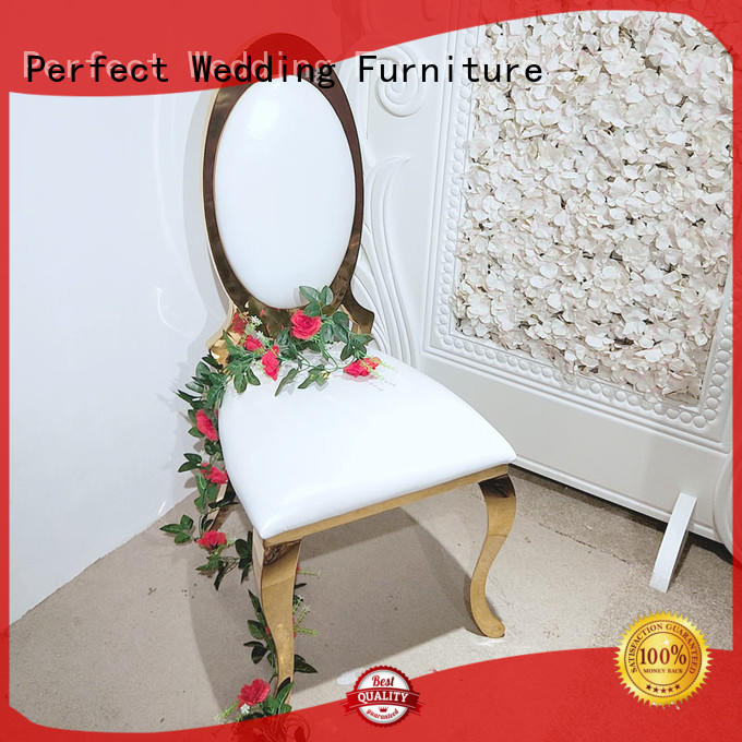Perfect Wedding Furniture durable silver wedding chairs manufacturer for wedding ceremony