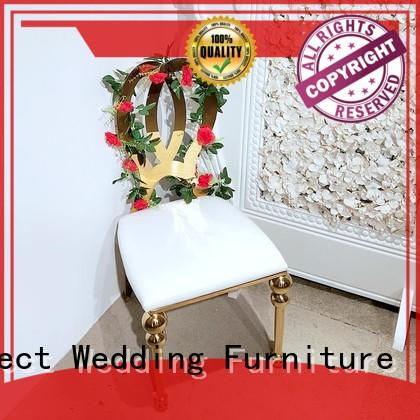 Perfect Wedding Furniture Brand steel color laser bridal chairs for sale
