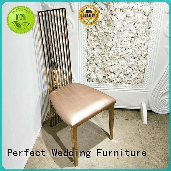 leather wedding chairs for bride and groom supplier for wedding ceremony Perfect Wedding Furniture