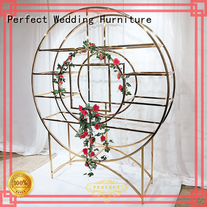 Perfect Wedding Furniture durable circle shelf to accommodate fro outdoors