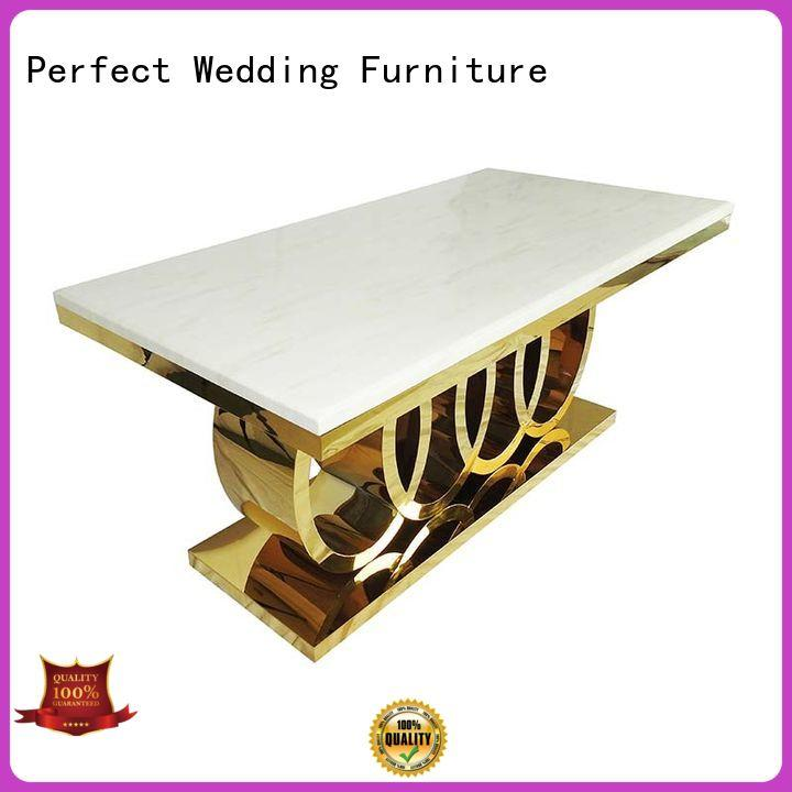 Perfect Wedding Furniture white wedding top table ideas in various shapes for hotel
