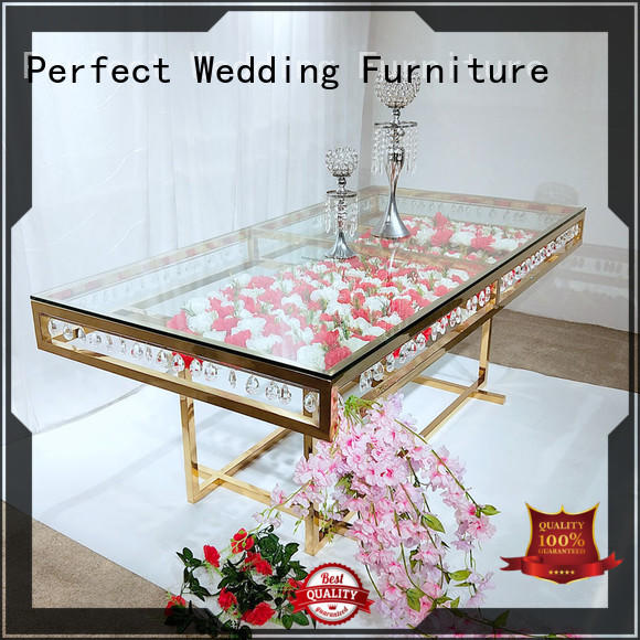 round wedding party dining table supplier for wedding ceremony Perfect Wedding Furniture