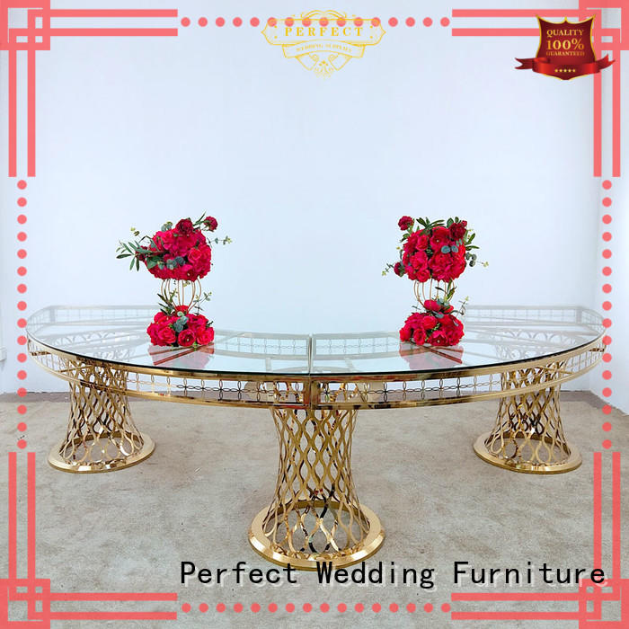 perfectly round wedding tables gold supplier for wedding ceremony