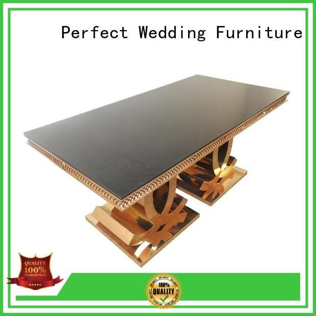 rectangle color black Perfect Wedding Furniture Brand wedding dining sets factory