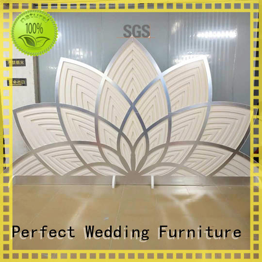 Perfect Wedding Furniture durable stainless steel screen for wedding gold for wedding ceremony