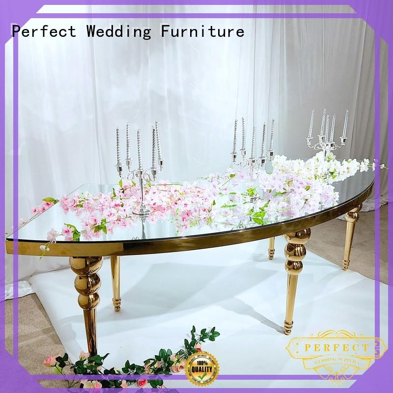 Custom wedding guest table gold manufacturers for dining room