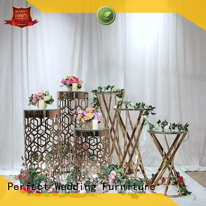 Perfect Wedding Furniture steel floral stand company for hotel