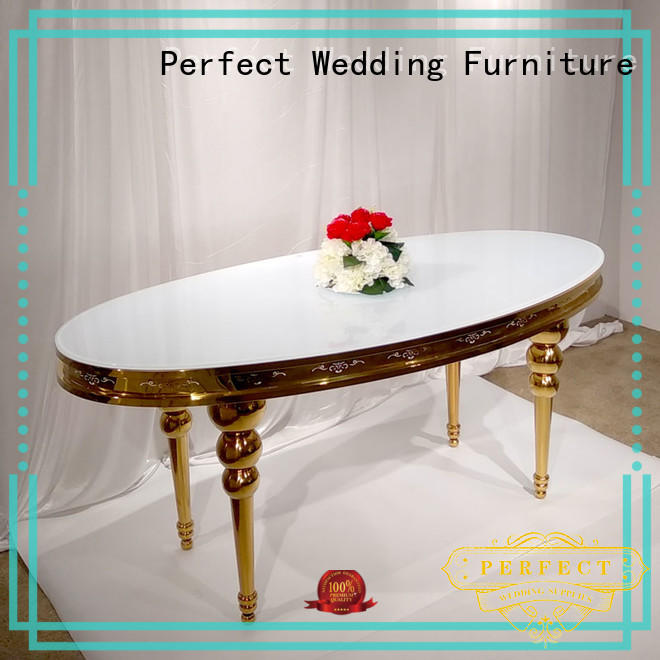 Perfect Wedding Furniture high quality wedding top table ideas supplier for dining room