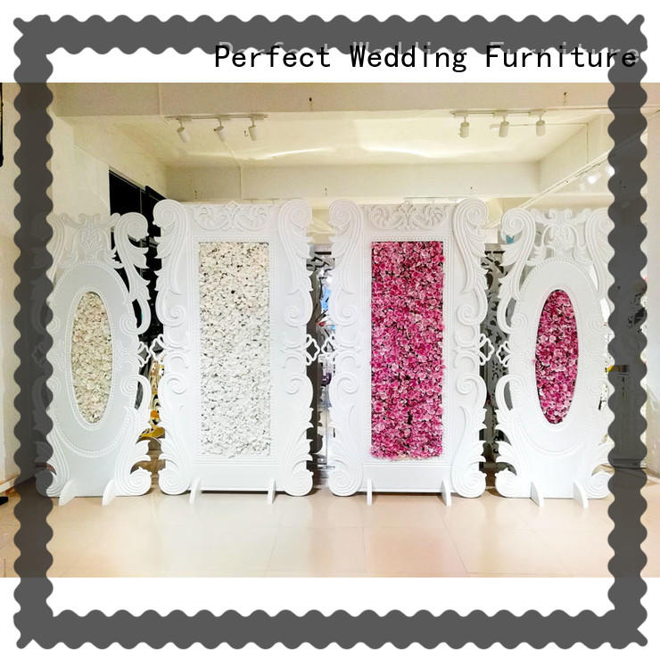 Perfect Wedding Furniture durable stainless steel screen for wedding celebration for hotel
