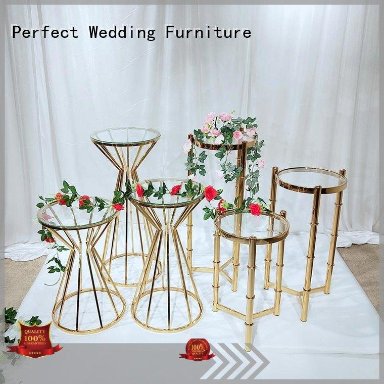 Perfect Wedding Furniture steel flower stands for wedding aisle with contemporary manufacturing equipment for hotel
