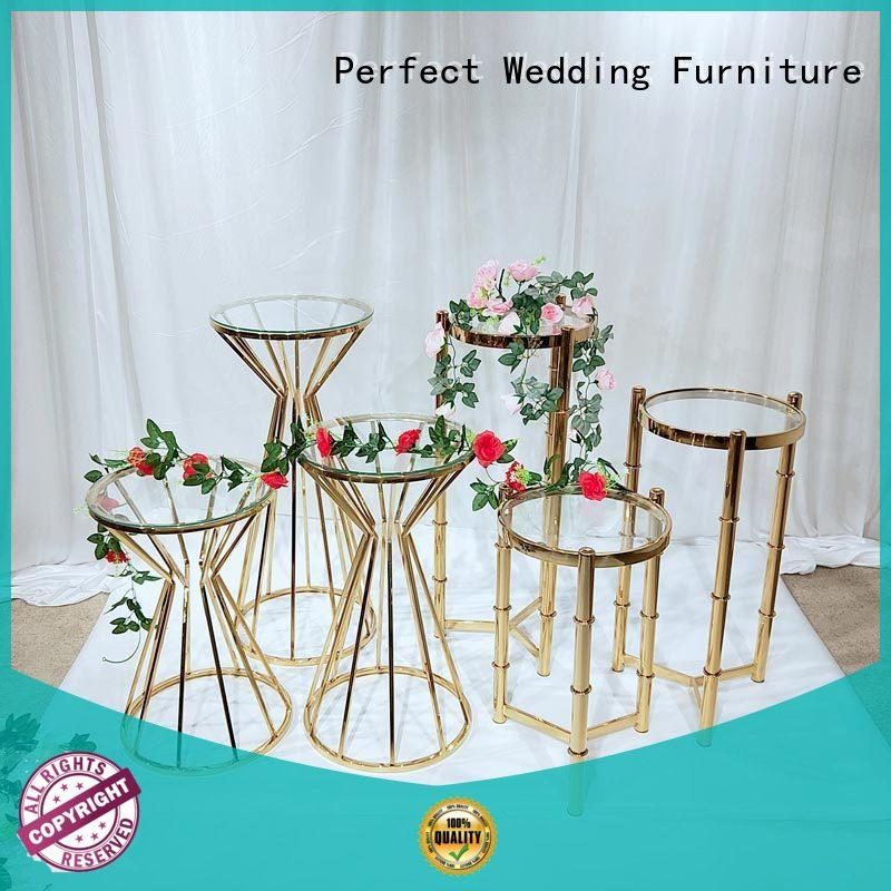 Perfect Wedding Furniture decorative tall floral stand steel for hotel